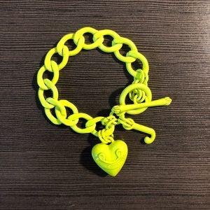 Juicy Couture Neon Heart Link Bracelet